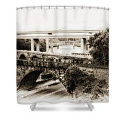 Seven Bridges View Shower Curtain