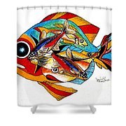 Seven Fish Shower Curtain