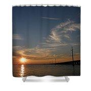 Seven Mile Bridge Sunset Shower Curtain