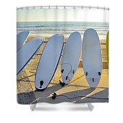 Seven Surfboards Shower Curtain