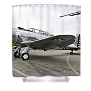 Seversky Guardsman At-12 Shower Curtain