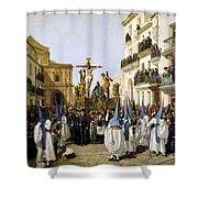 Seville: Good Friday, 1862 Shower Curtain
