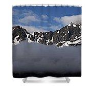 Seward Mountain Range Shower Curtain