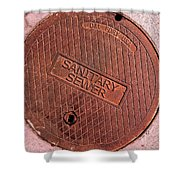Sewer Cover Shower Curtain