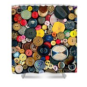 Sewing - Buttons - Bunch Of Buttons Shower Curtain