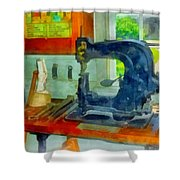 Sewing Machine In Harness Room Shower Curtain