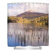 Sgurr Na Lapaich From Loch Salach A Ghiubhais In Glen Affric Shower Curtain