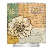 Shabby Chic Floral 1 Shower Curtain by Debbie DeWitt
