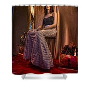 Shabby Genteel Red Shower Curtain