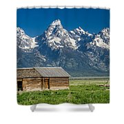 Shack And Grand Tetons Shower Curtain