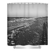 Shackleford Beach Morning Shower Curtain