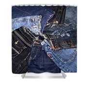 Shades Of Denim Shower Curtain