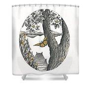 Shades Of Magnolia Shower Curtain
