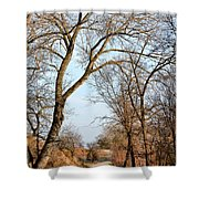 Shadow Cliffs Shower Curtain