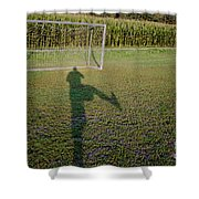 Shadow From A Football Player Shower Curtain