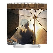 Shadow Of A Man Shower Curtain