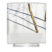 Shadow Of Small Trees On The Snow New Shower Curtain