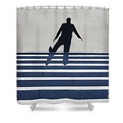 Shadow Walking The Stairs Shower Curtain