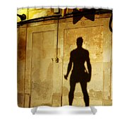 Shadow Wall Statue Shower Curtain