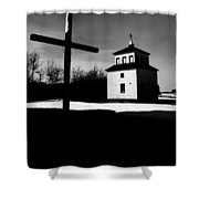 Shadows Of The Bell Tower Shower Curtain