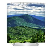 Shadows On The Mountains Shower Curtain