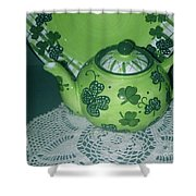 Shamrock Tea Shower Curtain