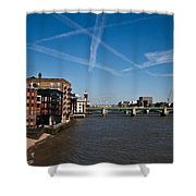 Shard And River Thames Shower Curtain