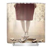 Shards Shower Curtain by Joana Kruse