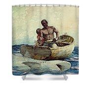 Shark Fishing Shower Curtain