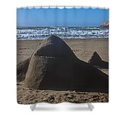 Shark Sand Sculpture Shower Curtain