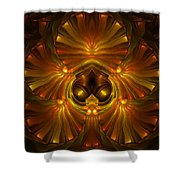 Shattered Five Leaf Clover Abstract Shower Curtain