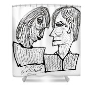 She And He Pen And Ink 2000 Shower Curtain