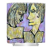 She And He Pen And Ink 2000 Digital Shower Curtain