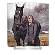 She Chose Me For Her Horse Shower Curtain