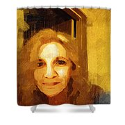 She Smiles Sweetly Shower Curtain