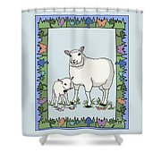 Sheep Artist Sheep Art Shower Curtain