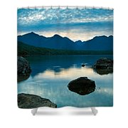 Sheep Clouds Above  A Lake  Shower Curtain