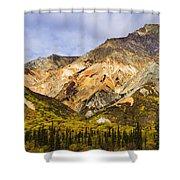 Sheep Mountain Along Glenn Highway Shower Curtain