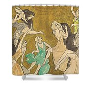 Sheet Music Gold Shower Curtain