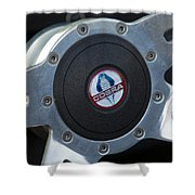 Shelby Cobra Steering Wheel Shower Curtain