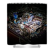 Shelby G.t. 500 Engine Shower Curtain
