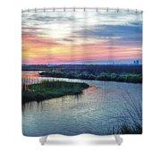 Shelby Lake Monday Hurricane Shower Curtain