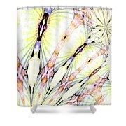 Shell Art 3 Shower Curtain
