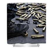 Shell Casings From A .50 Caliber Shower Curtain