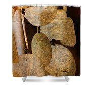 Shell Wind Chimes Shower Curtain