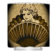 Shell With Child 2 Shower Curtain by Georgeta  Blanaru