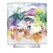 Shepherd In Saint Bertrand De Comminges Shower Curtain