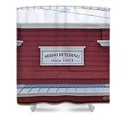 Shido Building Circa 1923 Shower Curtain