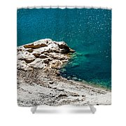 Shimmering Azure Water I Shower Curtain