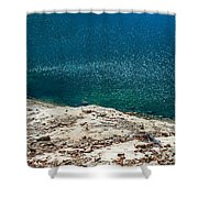Shimmering Azure Water Shower Curtain